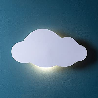Battery Operated LED Cloud Silhouette Wall Light by Lights4fun - low-cost UK light shop.