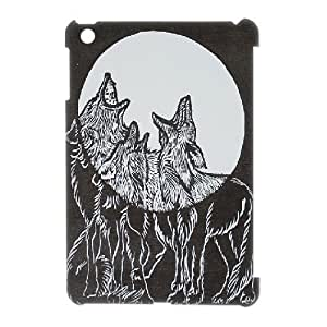 3D Cases for IPad Mini, Three Wolf Moon Painting Cases for IPad Mini, Kweet White