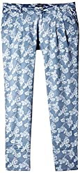 Pepe Womens Relaxed Pants (FLORAS PANT_Ice-Blue_L)