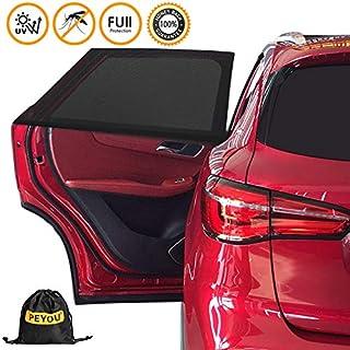 Sonnenschutz Auto Baby/Kinder (2 Stück), PEYOU Doppelseitiges UV Schutz Autofenster Sonnenschutz, Reduziert Wärme und UV-Strahlung, einfache Installation,für Skoda, großes Auto, SUV-(114 * 51 cm)
