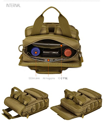 FLYHAWK Taktisch Molle Beutel Schulter Tasche, Rucksack Handtasche Umhängetasche mit Gurt K316-Dschungel Digital