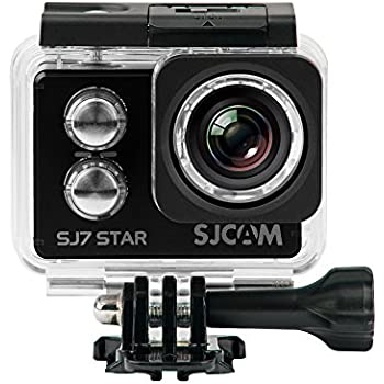 SJCam SJ7 Star - Cámara deportiva (4K, WiFi, 16 MP, pantalla táctil 2.0'', SuperView, sumergible 30 m) color negro