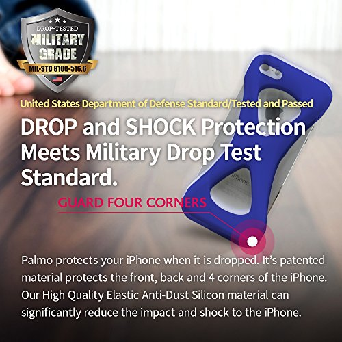 Custodia Case Palmo per iPhone 6s/6 (GiD - Glow in the Dark) - Vincitrice del Premio Red Dot: Product Design 2017 e del GOOD DESIGN AWARD 2015 – Test di caduta da parte delle forze armate USA – Contro Azzurro/Blu