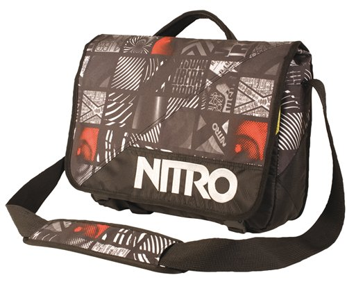 Nitro Snowboards Messenger Bag Evidence, 36 x 30 x 11 cm, Uomo, Mint Flannel white know order