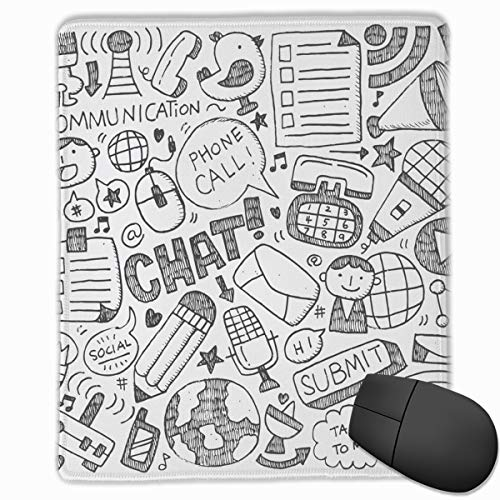 Pencil Hand Drawn Cartoon Car Character Chick Antenna Personalized Office Computer Accessories Mouse pad 18x22 -