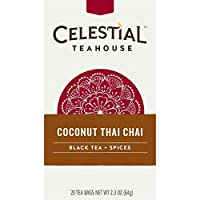 Celestial Seasonings Coconut Thai Chai Tea, 20 Count (Pack of 6)
