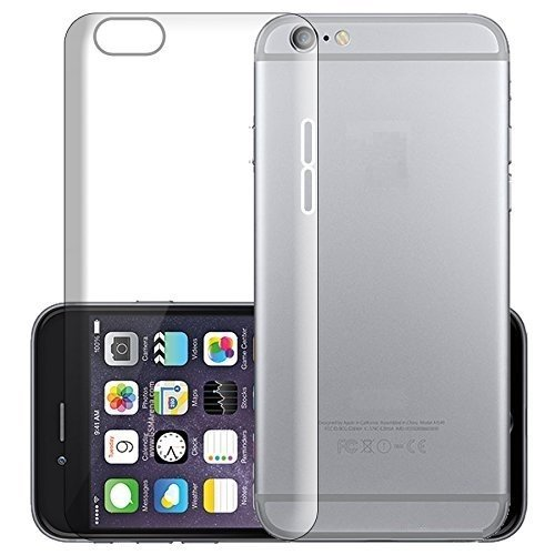 "Apple iPhone 6 (4.7"") TPU Rubber Gel Ultra Thin Case Cover Transparent Clear - Soft from Sides and Hard back"