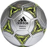 adidas Conext 19 Capitano Ball Balón de Fútbol, Unisex, Plata (Silver Metallic/Black/Solar Yellow), 5