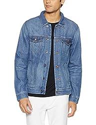 United Colors of Benetton Mens Cotton Jacket (8903975452015_17A2FSIC2001I902L_Blue)