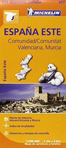 Comunidad Valenciana, Murcia Regional Map 577 (Michelin Regional Maps) por Michelin