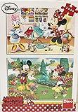 Dinotoys 385177 Hochwertigen Puzzle;Mickey und Friends Motiv, 2x66 Stück