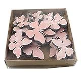 Streu Schmetterlinge aus Holz in pink 14 Stück Streuteile Streudeko Tischdeko Geschenkanhänger Bastelzubehör Frühlingsdeko