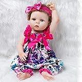 YukeBaby Réaliste Bébé Poupée en Silicone Souple 57cm 22.4 Pouce Baby Toy Gift Poupée Nouveau-née (Poupée Nue)
