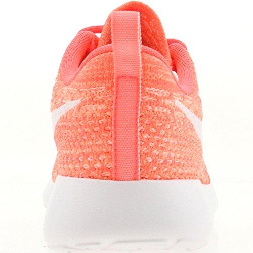 Nike - Roshe Flyknit, Scarpe da corsa Donna Pink/White