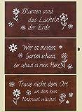 Schild / Spruchtafel