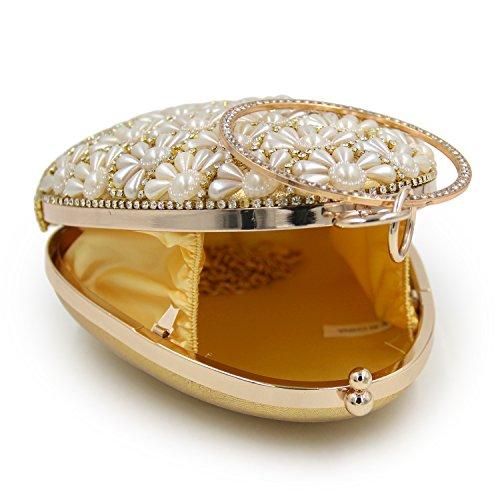 Flada, Poschette giorno donna argento Silver medium Gold
