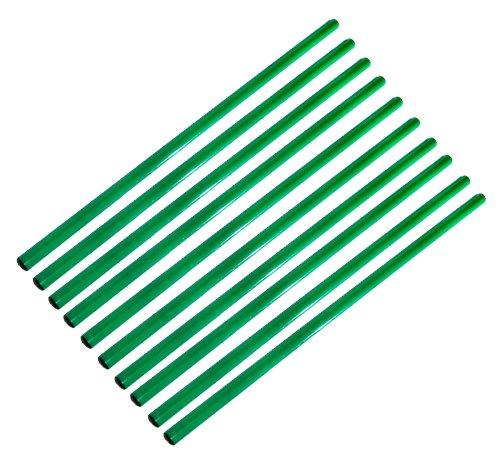 Boje Sport 10er Set Stangen 100 cm, Farbe: grün (Fußball Agility-stangen)
