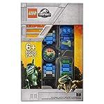 Orologio-componibile-da-polso-per-bambini-LEGO-Jurassic-World-8021285-con-cinturino-a-maglie-e-minifigure-Blue