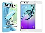 SDTEK Samsung Galaxy A5 2016 (Blanc) Couverture complète Verre Trempé Protecteur d'écran Protection Résistant aux éraflures Glass Screen Protector Vitre Tempered