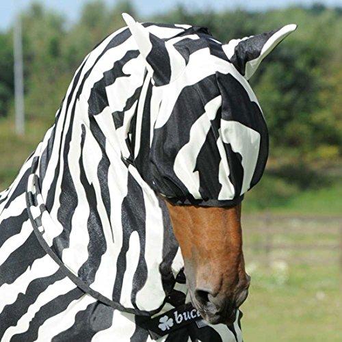 Bucas Buzz Off Zebra Fly Mask - M
