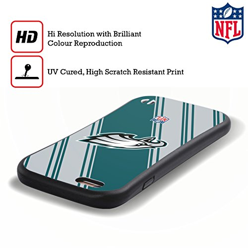 Ufficiale NFL Righe 2017/18 Philadelphia Eagles Case Ibrida per Apple iPhone 6 Plus / 6s Plus Righe