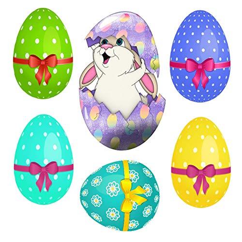 (Denret3rgu Easter Bunny Egg Wandaufkleber Wohnzimmer Kinder Schlafzimmer Abnehmbare Abziehbild Dekor B)