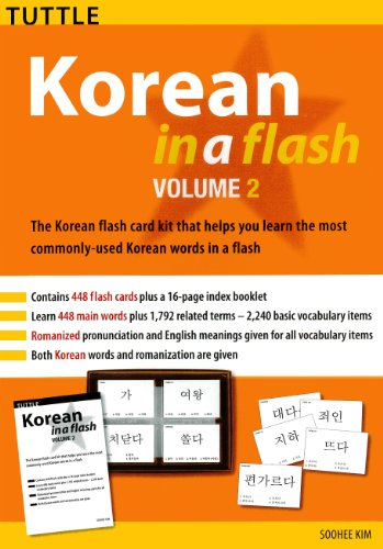 Korean in a Flash Kit Ebook Volume 2 (Tuttle Flash Cards) (English ...