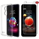 LG K9/LG K8 2018 Custodia Con vetro temperato,[3 in 1] MYLBOO Custodia in trasparente TPU morbida e sottile + [2 Pezzi] [Durezza 9H] Proteggi schermo in vetro temperato [HD Ultra] [Anti-graffio] Proteggi schermo per LG K9 smartphone