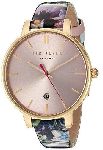 Ted Baker Women's 'KATE' Quartz Stainless Steel and Leather Dress WatchMulti Color (Model: 10031542)
