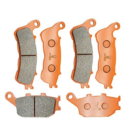 Lefossi moto anteriore e posteriore fibra di carbonio pastiglie freno per Hondaa CB 600 Hornet ABS Model 2007 2008 2009 2010 2011 2012 2013 FA388F FA174R