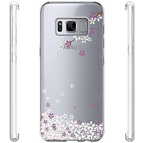 vanki Cover Samsung Galaxy S8 Plus, Galaxy S8 Plus Custodia Morbida di TPU Cristallo Trasparente Sottileb Bordo Proteggi Copertura Completa (Fiori di Ciliegio) (Samsung Galaxy S8 Plus, 7) 11