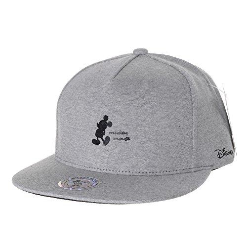 WITHMOONS Baseballmütze Mützen Caps Disney Mickey Mouse Silhouette Snapback Baseball Cap CR2506 (Grey) (Mickey Mouse Mützen)