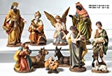 Idea Natale: Presepe natività composto da 11 statue soggetti in resina decorata (19,5 Centimetri)