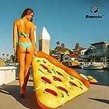 Memento Gonfiabile gigante Pizza piscina galleggiante e acqua zattera