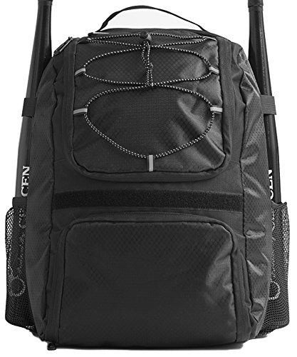 DAVID.ANN Baseballschlägertasche - Rucksack für Baseball, T-Ball & Softball Ausrüstung & Ausrüstung für Jungen & Mädchen, DV-BB00101, Schwarz (Softball-rucksäcke)