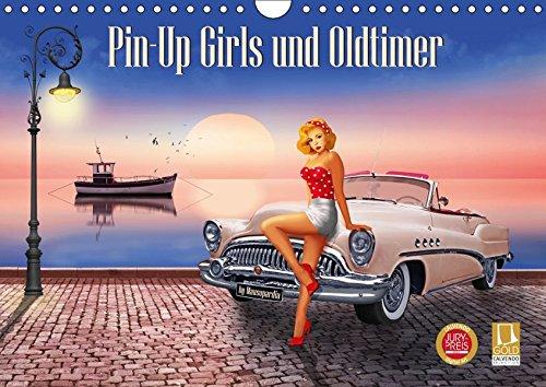 Pin-Up Girls und Oldtimer by Mausopardia (Wandkalender 2019 DIN A4 quer): Sexy Pin-Up Girls und kultige Oldtimer im Retro Style der 60er Jahre. (Monatskalender, 14 Seiten ) (CALVENDO Menschen)