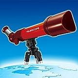 Likeluk Kinder Einsteiger Teleskop für Anfänger Kinderteleskop Astronomie Refraktorteleskop mit Stativ, 80/60/40*50mm