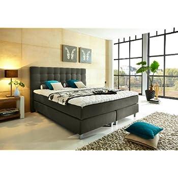 bestseller rockstar von welcon boxspringbett 180x200 h rtegrad h3 dunkelgrau mit freistehenden. Black Bedroom Furniture Sets. Home Design Ideas