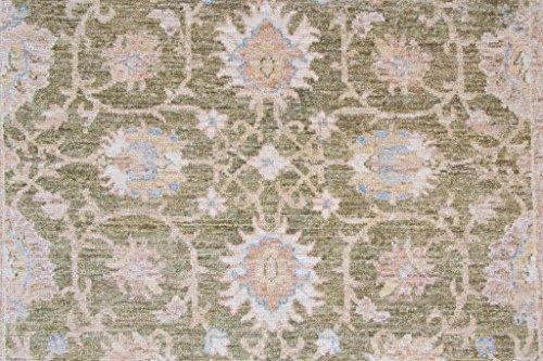 Handgeknüpfter ziegler teppich cm beige grün pakistan
