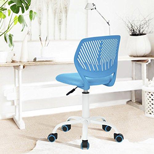 $ Fanilife Sedia da ufficio con design regolabile, sedia da computer per bambini, sedia da studio girevole, per scrivania, senza braccioli, per bambini, verde Blue miglior prezzo