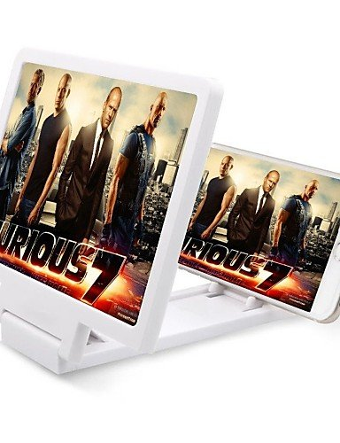 zzll151 tablet und Handy-Bildschirm Lupe 3D Film Verstärker verstellbare Halterung Vergrößern Stand für iphonesamsung ipad , white KKKAOOL