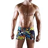 Sidiou Group Nouveau Caleçon de bain pour hommes,Boxer Caleçon de bain l'impression à la mode avec grande taille pour plage & source chaude, Boxer Caleçon de bain à la mode