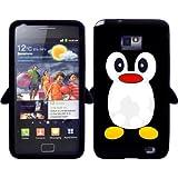 Ganvol Neuheit Pinguin Silikon H¨¹lle Samsung Galaxy S2 Case Schutzh¨¹lle Etui in Schwarz