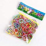 Unbekannt 300 Stück elastische Silikonbänder,l Multifarben , 12 Verschlüsse für Loom Bands + Haken