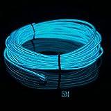 EL Wire, HopeU5® 5M luces de neón que brilla intensamente Strobing Super brillante batería que funciona con cuerda para decoraciones de coches Cool Neon Signs-Blue