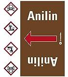 LEMAX® Rohrleitungsband Anilin, praxisbewährt, ab Ø 50mm, braun/weiß, 33m/Rolle