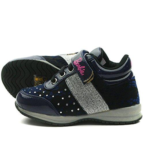 BA103 Barbie Shoes with Velcro Strap Sporty Shoe for Girls >      > Les chaussures de sport avec des sangles velcro pour les filles Navy Blue (bleu)