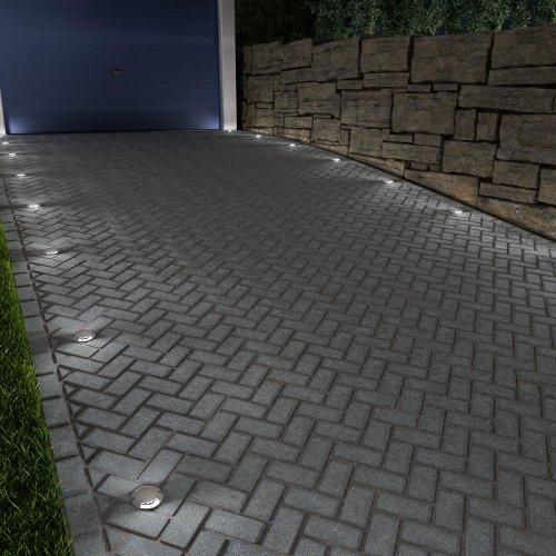 Parlat Led Lampada A Pavimento Bunda 2 Beam Da Esterno Carrabile