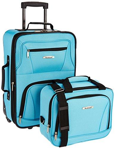 Rockland Bagage De Cabine Abs Extensible Melbourne 20PO Koffer-Set, 38 Liter, Pinkleopard -