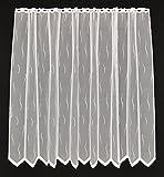 Rideaux brise-bise avec un modèle de petite vague blanc 120 cm de haut   La largeur est réglable en fonction du nombre de pièces en pas de 25,5 cm.   Couleur: Blanc